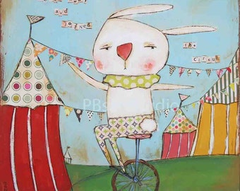 Bunny joined the circus- Canvas Prints