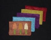3 little mushroom card wallet