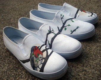Hand Painted Toms - Robin