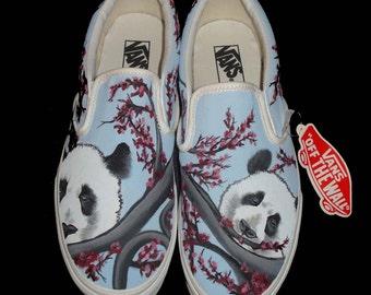 Hand Painted Toms - Panda's