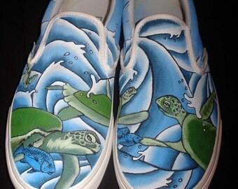 Hand Painted Tom's - Turtles