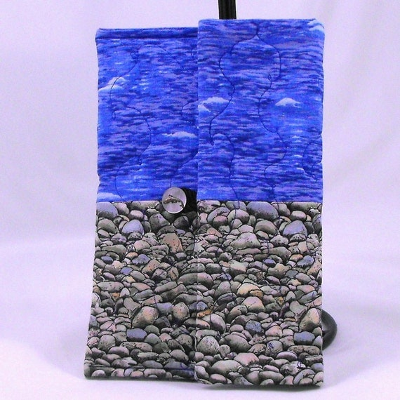 """Quilted iPad Mini, Kindle Fire, Kindle Fire HD 7"""", Nook HD, Nook Tablet, Nook Color Cover Case- Ocean Themed"""