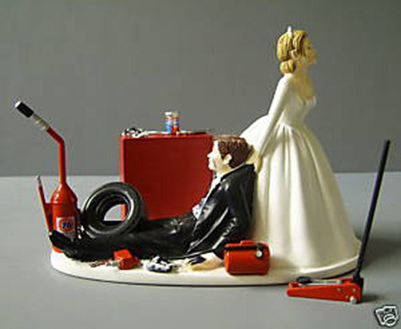 Drag Racing Wedding Cake Topper