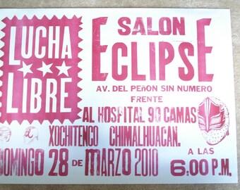 Lucha Libre Letterpress Poster