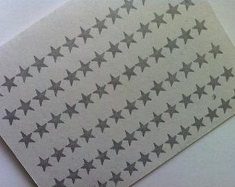 Silver Stars Letterpressed Card