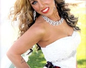 Wedding Dress Jeweled Crystal Belt Sash