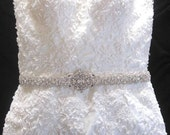 Wedding Bridal Dress Jeweled Crystal Belt Sash