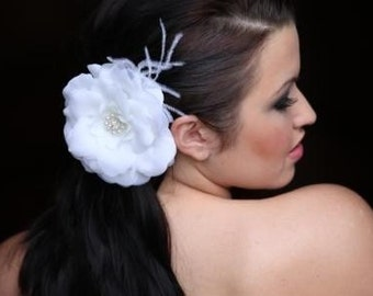 Bridal Hair Ivory Flower Clip Fascinator