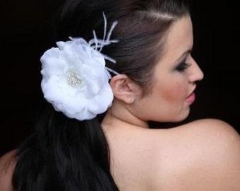 Bridal Hair Ivory Flower Clip Fascinator