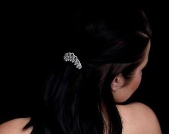 Bridal Hair Accessories Comb with Crystals and Pearls