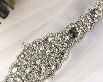 Matilda Wedding Dress Jeweled Crystal Belt Sash