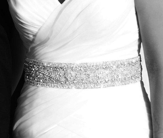 Wedding Jeweled Crystal Beaded Embellished Belt Sash