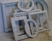Upcycled White Shabby Chic Frame Collection - Chippy Beach Cottage