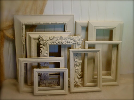 Farmhouse Frame Collection - Upcycled Ochre - Chalk Paint - Simple Lines