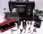 RESERVED FOR HouseofNinesDesign Singer Sewing Machine 301 Black - Serviced with Lots of Extras