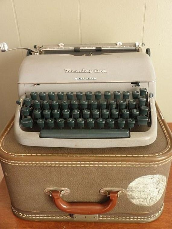 1950s Remington Quiet Riter Miracle Tab Typewriter with Case