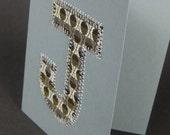 Monogram Card, J