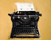 Underwood typewriter. Giclee print from an original oil painting by Patricia Cotterill