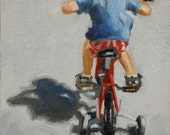 Tour de France. Original oil painting by Patricia Cotterill.