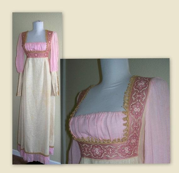 Vintage 60s Black Label Gunne Sax Victorian dress