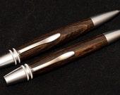 Polaris style twist pen and pencil set in Ebony