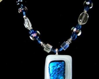 Handmade Glass Blue Jewelry Set OOAK