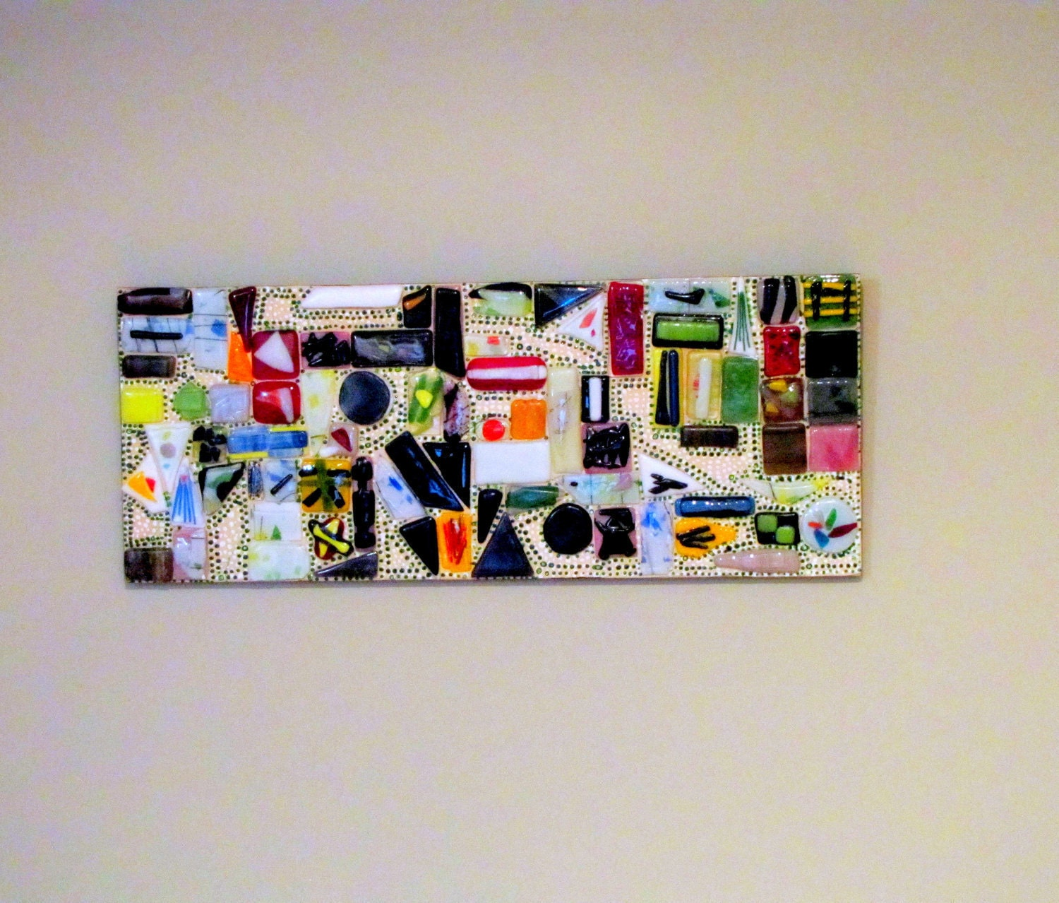 Fused Glass Wall Art: Original Contemporary Fused Glass Wall Art Hanging Signed