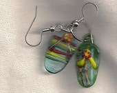 lampwork bead sandle flip flop earrings
