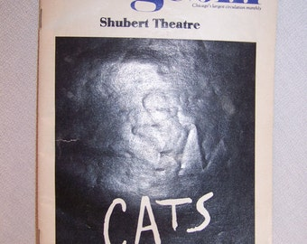 Playbill Chicago Stagebill CATS