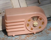 Reserved For F.  Vintage Music Box Radio Pink Plastic