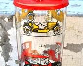 Vintage Hazel Atlas Cocktail Shaker Mixer Antique Cars