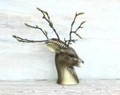 Reserved For Mo  Vintage Royal Copley Antelope Gazelle Vase