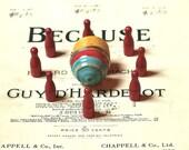 Vintage Zip Top Game Wooden Toy De Lux Game Corp.