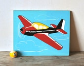 Reserved For Soma Vintage Playskool Airplane Wooden Puzzle