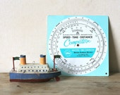 Vintage Speed Time Distance Computer Marine Products Division Wheel Chart