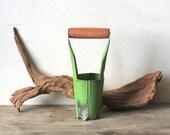 Vintage Lime Green Bulb Planter Garden Tool