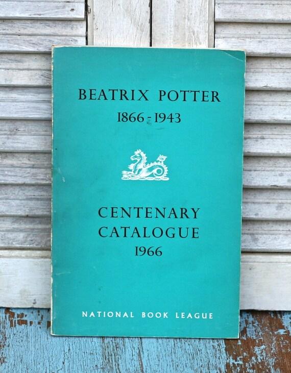 Vintage Beatrix Potter  Centenary Catalogue 1966