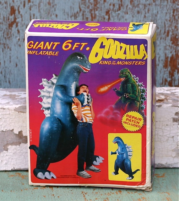 Reserved  Vintage Giant 6 Foot Inflatable Godzilla Imperial 1985 Mint in Box