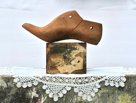 Reserved For Meagan Vintage Wooden Shoe Form