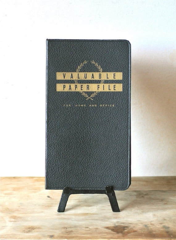 Circa 1950s Mid Century Valuable Paper File For Home And Office Notebook