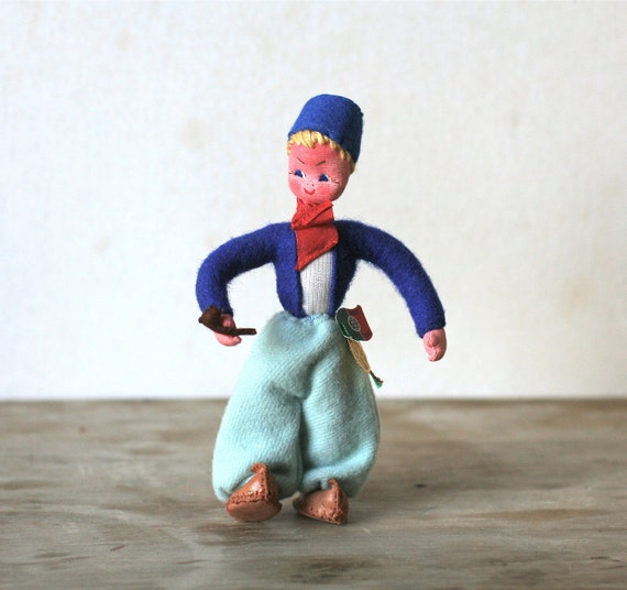 Vintage Maria Helena Souvenir Doll Mascots Portugal Felt Hand Painted