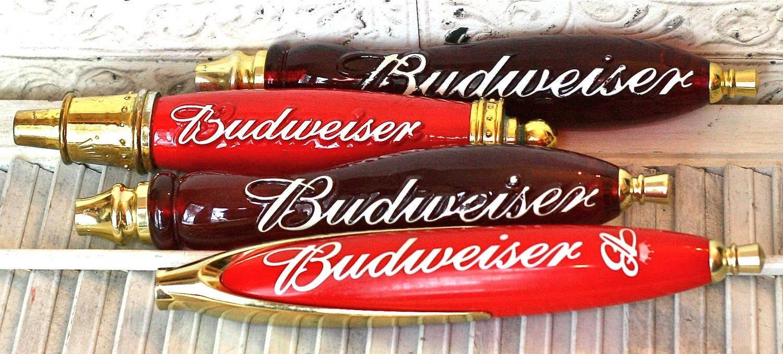 Vintage Budweiser Beer Tap Handles
