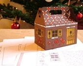 Christmas Gable Box template -  Tasty Manor - PDF download - diy christmas ornament