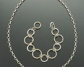Reserved for Carla:  Sterling silver, handmade circles necklace