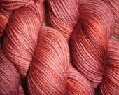 Fever Dream Hand Dyed Superwash DK Weight Merino Wool Yarn FREE PATTERN Scarlett Red