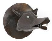 Art Metal Wall Sculpture Wolf Head