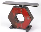 Metal Table Hexagon Console
