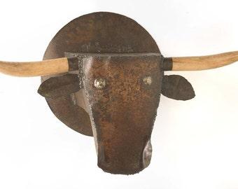 Art Metal Wall Sculpture Steer Head