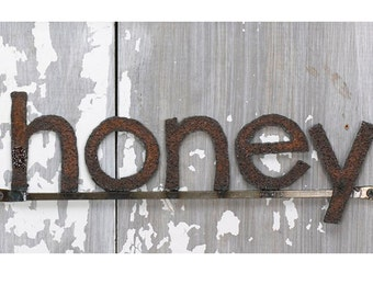 Decorative Wall Signage HONEY Word Sign Free Shipping