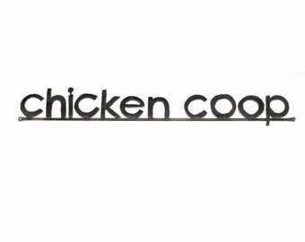 Chicken Coop Word Sign Free Shipping